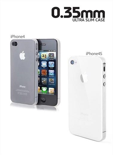 Microsonic 0,35Mm Ultra İnce iPhone  4 / 4S Kılıfı Beyaz Renkli